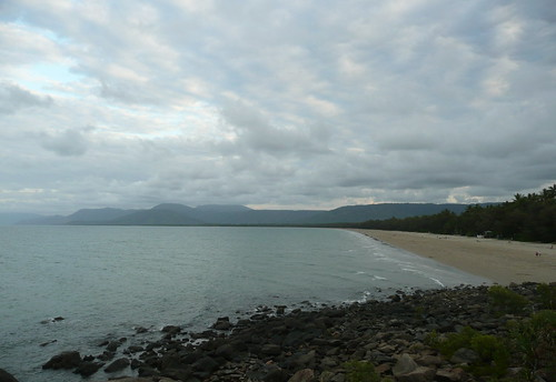 Four Mile Beach in Port Douglas, aka the beach that almost killed me. Lets just say there werent the nice fluffy clouds the first time we walked ALL THE WAY down the beach, wading half the time, having sunscreen-less legs.  Yeah, I couldnt walk for a couple days.