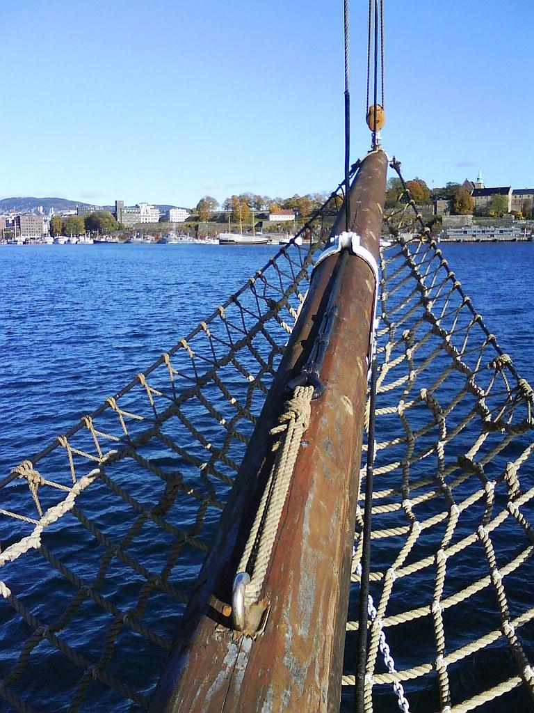 Sailing on Jomfruen towards Oslo City