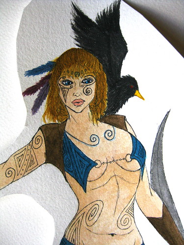 Celtic Warrior (Close-up) I drew