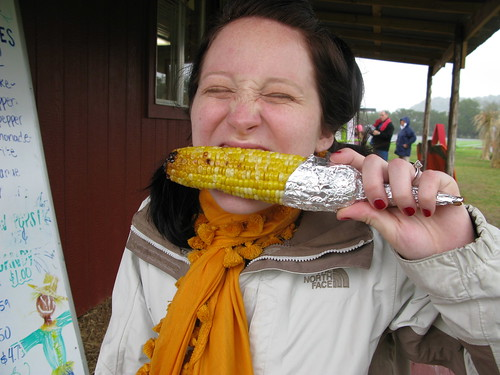 This photo is for my mother.  The only person in the world that would love this face and the only one who loves corn as much as me.