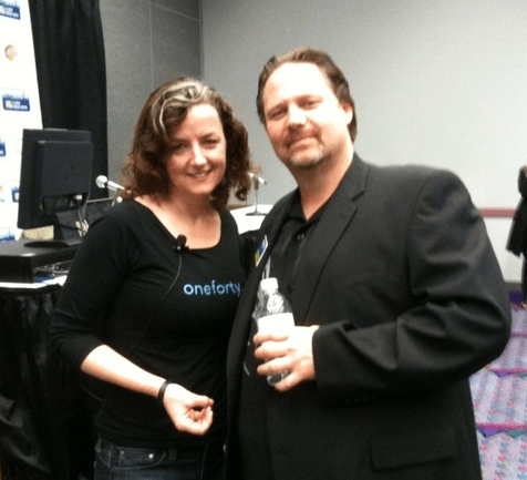 Rick Calvert aka @blogworld  and Laura @Pistachio Fitton