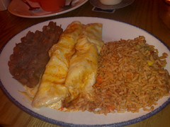 Enchiladas Suiza at Pancho Villa's, Royal Mile...