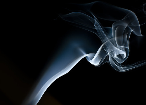 photograph of smoke using a Nikon D90 and 50mm lens