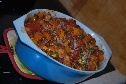 Butternut squash-beef casserole
