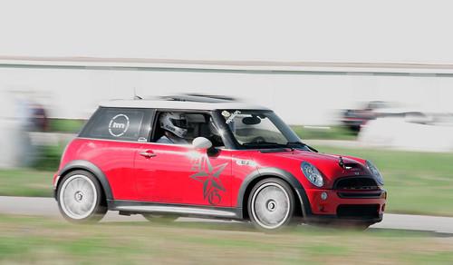 Mini Cooper running at dunnville