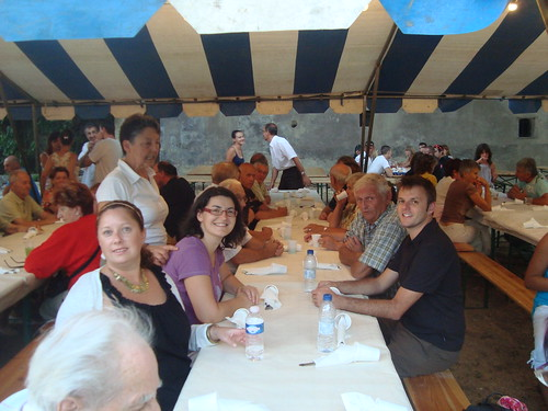 Dinner at the Fête de La Brusquet