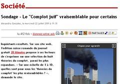 France-Soir: Le Complot juif vraisemblable pour certains