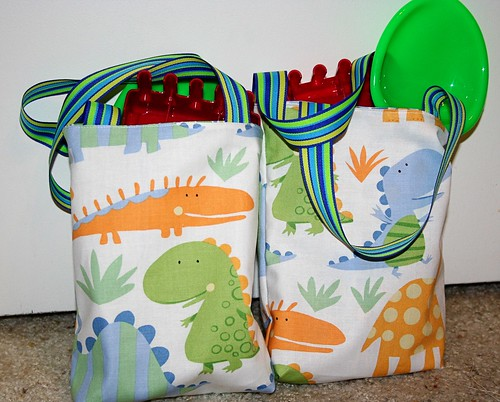 Dinosaur Party Bags filled