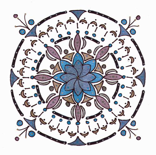 mandala #23, marker & gel ink (c) Lynne Medsker