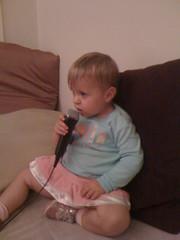 Ella playing rockband
