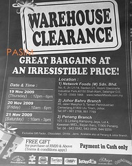 Network Foods warehouse clearance