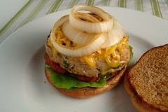 Turkey Burgers with Smoked Gouda and Grilled O...