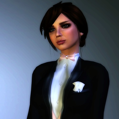 The hair is from Elle F - by Launa Fauna, who makes Chai skins. Its the perfect tuxedo hair.