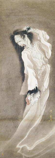 kyosai ghost painting circa 1860