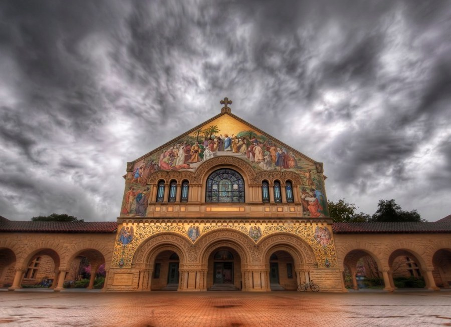 The Stanford Church in the Photowalk Storm