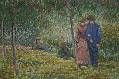 """Courting couples in the Voyer d'Argenson..."