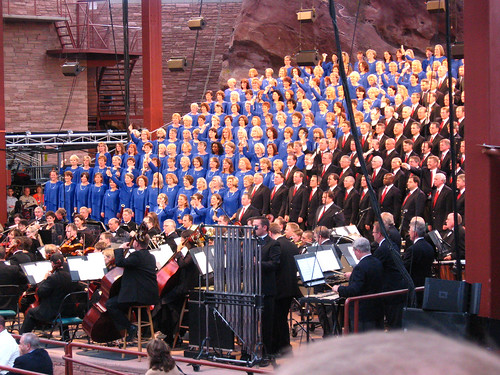Mormon Tabernacle Choir at Red Rocks.
