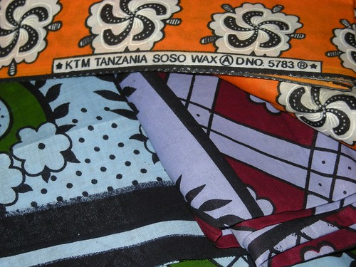 Textiles from Tanzania For Sale photo: copyright 2009 Katy Dickinson