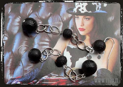 Orecchini neri - Black earrings IFNECAT