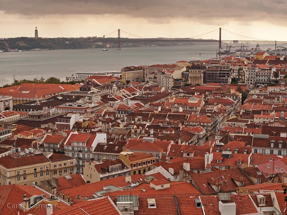 Ligera llovizna sobre Lisboa
