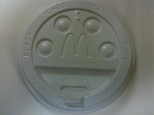 McDonalds cup lid