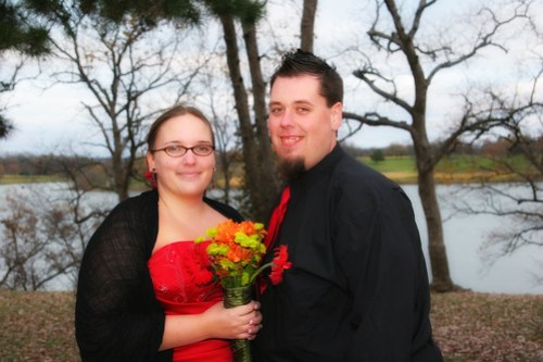 My handsome groom and I