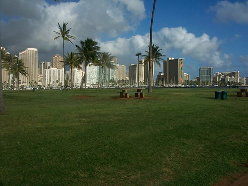 View of Downtown Honolulu from Magic Island