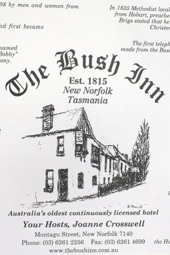 The Bush Inn, New Norfolk by you.