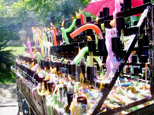 The colorful candles