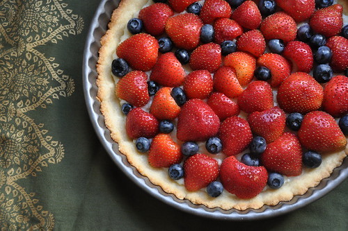 Fresh Strawberry-Blueberry Tart