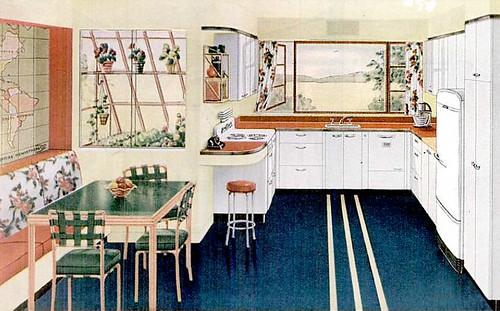 Mid Century Living '40s Kitchens
