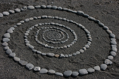 Stone spiral, Millook Haven, Cornwall