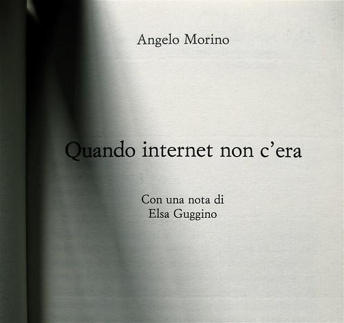 Angelo Morino, Quando internet non c'era, Sellerio 2009, frontespizio (part.)