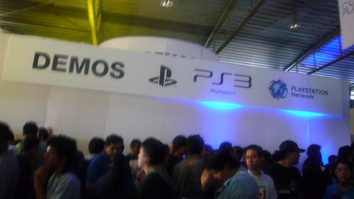 Area de DEMOS en Conexión Playstation