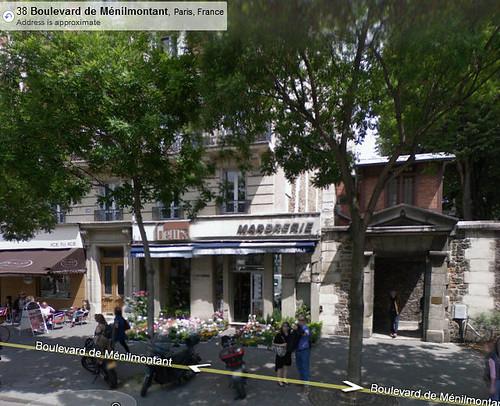 pere lachaise - menilmontant entrance - google maps