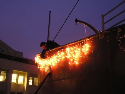 lighting the lightship