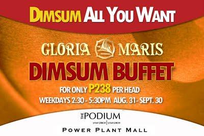 Gloria Maris Dimsum Buffet Extended!