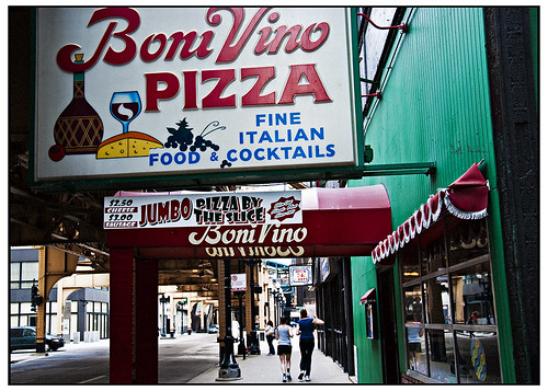 Jogging Past Boni Vino Pizza