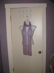 Lavender lace scarf, for Merrils birthday (she got earrings & a bracelet too)