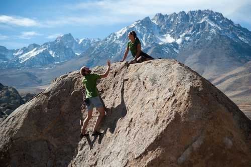 Bouldering in Bishop, CA