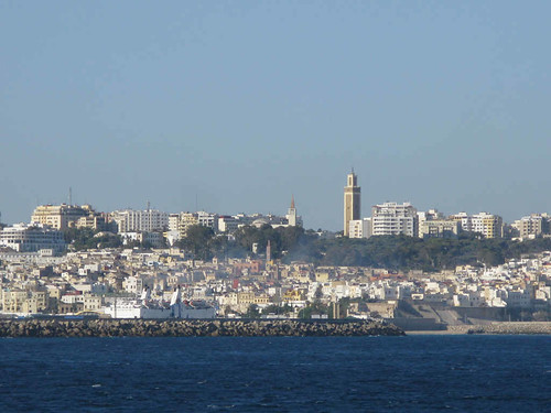 Arriving at Tangier by ferry