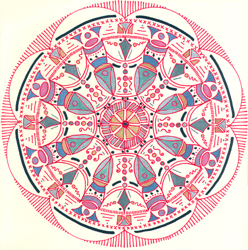 mandala 8 marker & gel ink pen on paper (c) 2009, Lynne Medsker