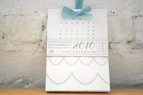2010 Letterpress Calendar