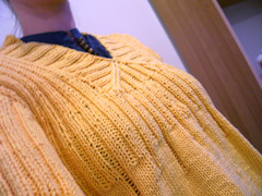 yellow jumper - yoke