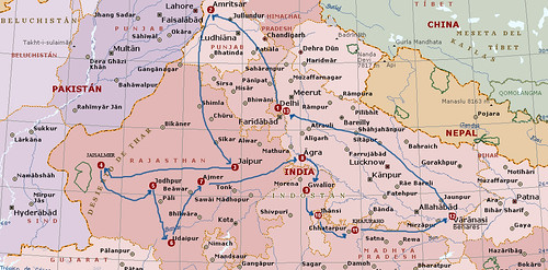 mapa india con trazas numericas 3