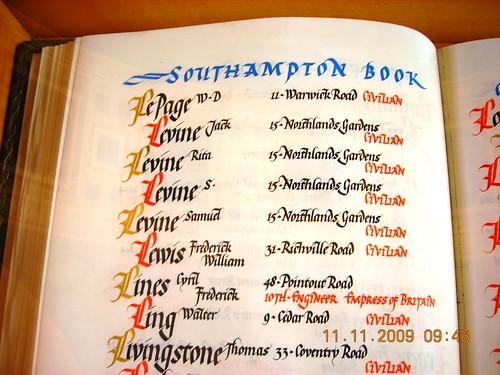 Southampton Book of Remembrance