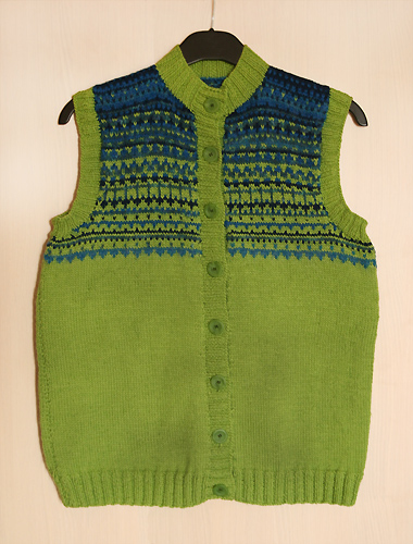 green-blue vest - finished