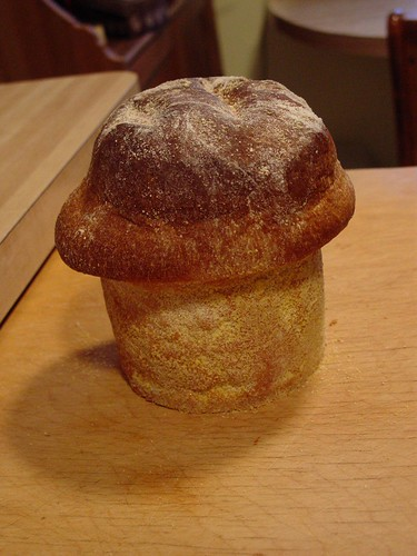 muffin bread from neighbor - a bit naughty looking!