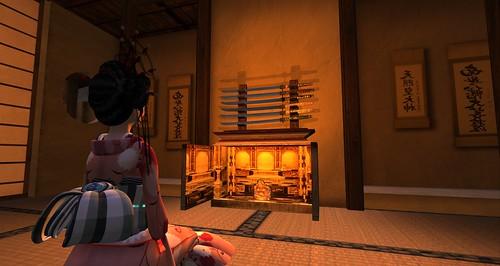 reBourne dojo - katana stand & batsudan