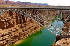 Navajo Bridge and Colorado River